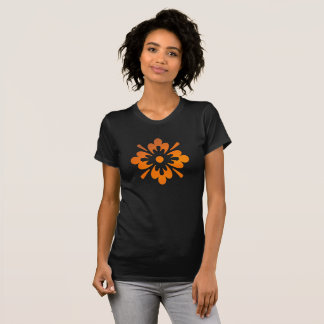 Floral Orange Sunset Sky Abstract Women's T-Shirt