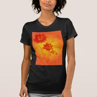 floral ornament orange sun T-Shirt