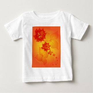 floral ornament orange sun tee shirts