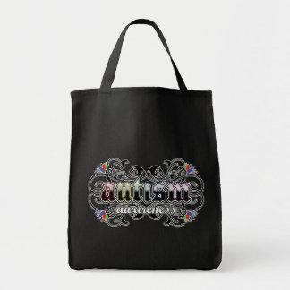 Floral Ornamental - Autism Awareness Tote Bag