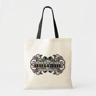 Floral Ornamental - Autism Awareness Canvas Bag