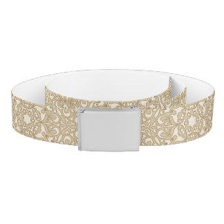 Floral ornate background belt