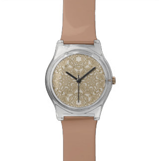 Floral ornate background watch