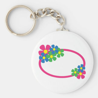 FLORAL OVAL KEYCHAINS