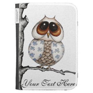 Floral Owl Customizable Kindle Case