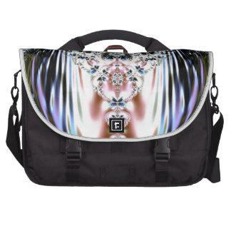 Floral Oyster / Mystic Fractal Design Laptop Commuter Bag