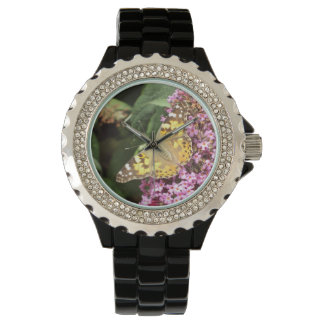 Floral Painted Lady Butterfly Watch