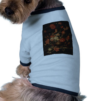 Floral painting by Abraham Mignon Doggie Shirt