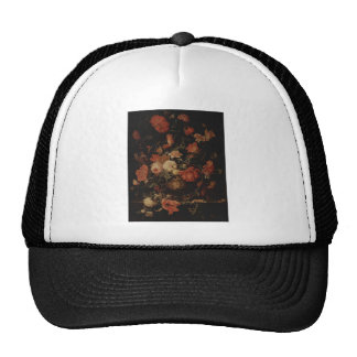 Floral painting by Abraham Mignon Hats