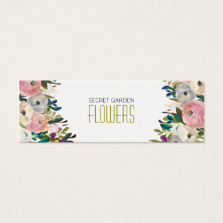 Floral Painting Florist Skinny Business Cards