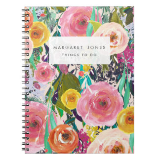 Floral Painting Personalized Journal Notebook