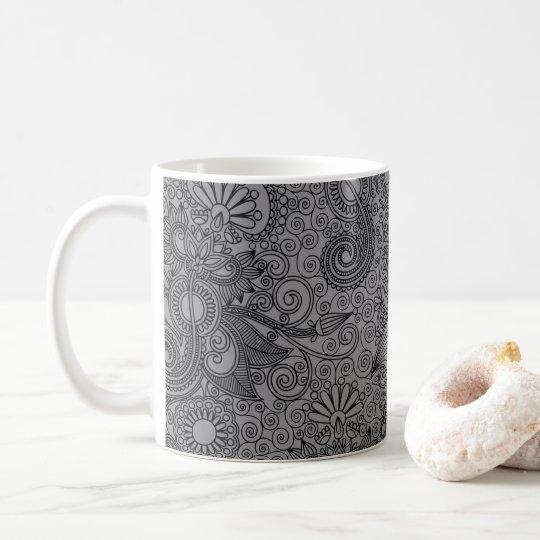 FLORAL PAISLEY COFFEE MUG