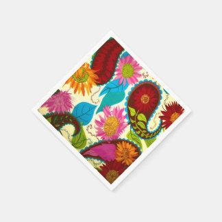 Floral Paisley Disposable Serviette