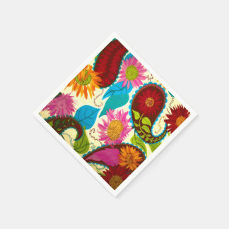 Floral Paisley Paper Napkin