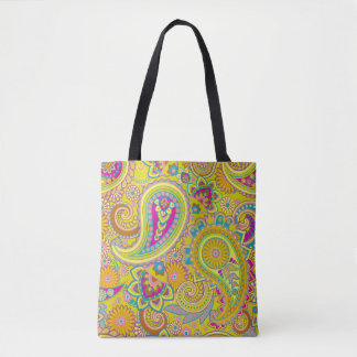 Floral Paisley seamless pattern I + your ideas Tote Bag
