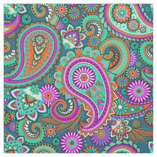 Floral Paisley seamless pattern II + your ideas Fabric