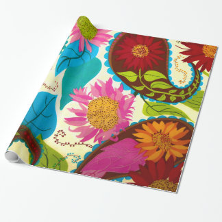 Floral Paisley Wrapping Paper