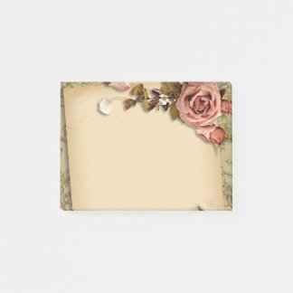 Floral paper post-it notes