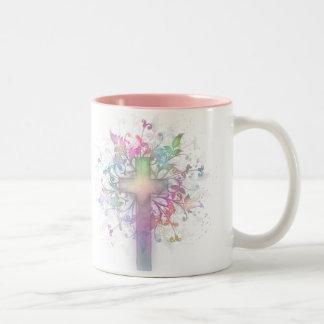 Floral Pastel Two-Tone Mug