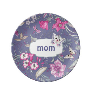 Floral Patter & Butterfly Mother's Day Gift Plates