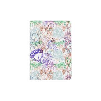 Floral Pattern 10 Passport Holder