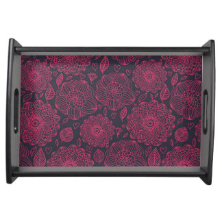 Floral Pattern 11 Serving Tray