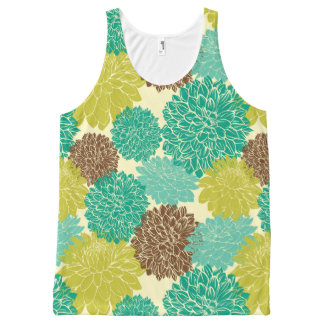 Floral Pattern 12 All-Over Print Tank Top