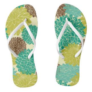 Floral Pattern 12 Flip Flops