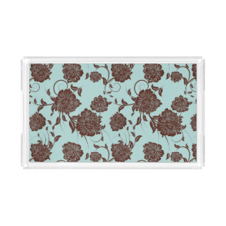 Floral Pattern 13 Acrylic Tray