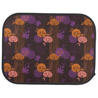 Floral pattern 2 3 car mat