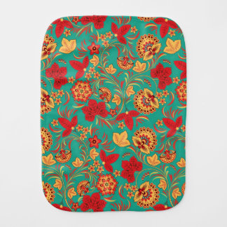Floral pattern 2 burp cloth