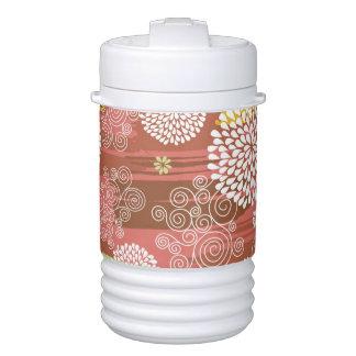 Floral pattern 2 drinks cooler
