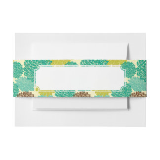 Floral Pattern 2 Invitation Belly Band
