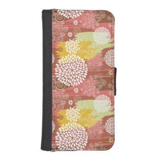 Floral pattern 2 iPhone SE/5/5s wallet case