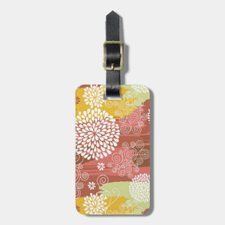 Floral pattern 2 luggage tag
