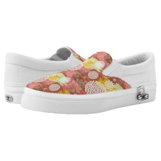 Floral pattern 2 printed shoes