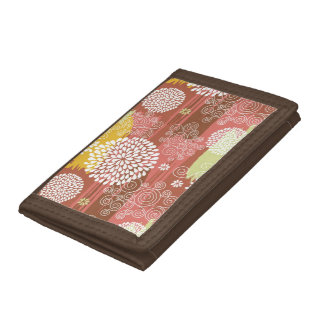 Floral pattern 2 trifold wallet