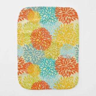 Floral pattern 3 burp cloth