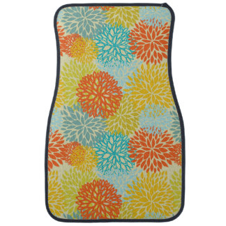 Floral pattern 3 car mat