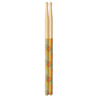 Floral pattern 3 drumsticks