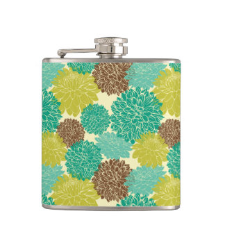 Floral Pattern 3 Hip Flask