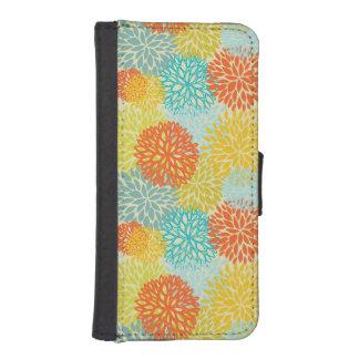 Floral pattern 3 iPhone SE/5/5s wallet case