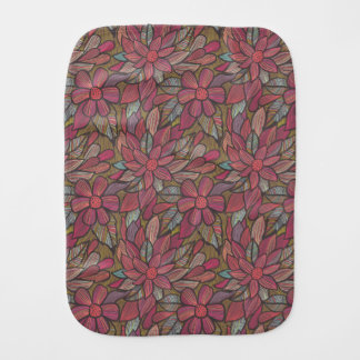 Floral pattern 4 3 burp cloth