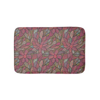 Floral pattern 4 bath mat