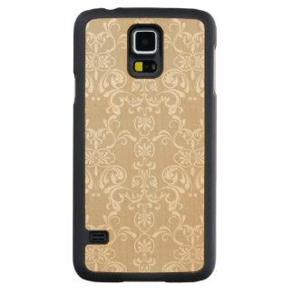 Floral Pattern 4 Carved Maple Galaxy S5 Case