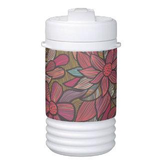 Floral pattern 4 cooler