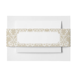 Floral Pattern 4 Invitation Belly Band