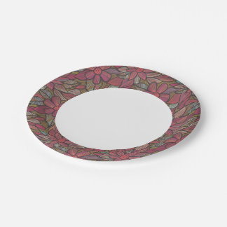 Floral pattern 4 paper plate
