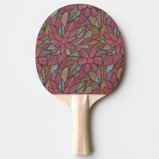 Floral pattern 4 ping pong paddle