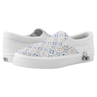 Floral Pattern 4 Slip-On Shoes